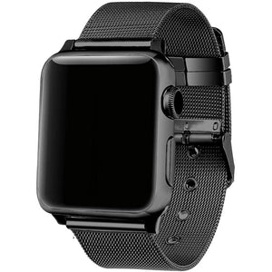 Top Selling - Milanese Loop Replacement Stainless Steel Strap Buckle Band With Connector for Apple Watch