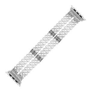 Jewelry Strap Band for Apple Watch -Imitation Pearl Bracelet Watchband - Elegance & Splendour