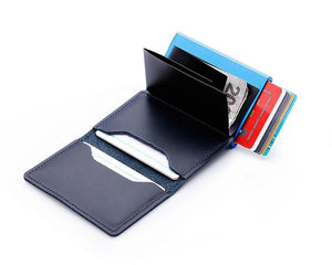 Premium Leather Credit Card Holder with RFID Blocking - Elegance & Splendour