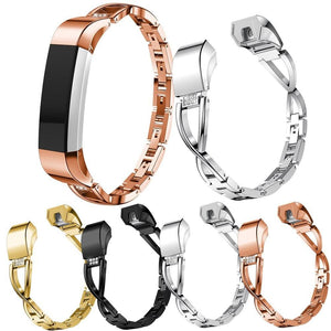 High Quality Replacement Alloy Crystal Rhinestone Wristband Band Strap Bracelet For Fitbit Alta/For Fitbit Alta HR Watch Band - Elegance & Splendour