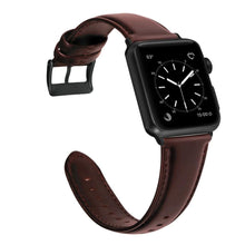 Load image into Gallery viewer, Leather Wax Oil Skin Band Bracelet For Apple Watch - Must Buy for Men - Elegance & Splendour