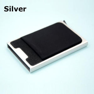 Aluminum Wallet/Card Case with Automatic Pop Up With RFID Blocking - Elegance & Splendour