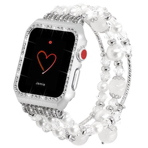 Metal Diamond Band Compatible With Apple Watch - Elegance & Splendour