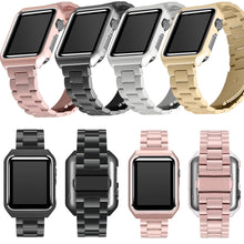 Load image into Gallery viewer, Protective Case With Stainless Steel Strap for Apple Watch - Elegance & Splendour