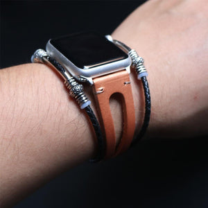 New Handmade Bead Retro Punk Bracelet for Apple Watch - Elegance & Splendour