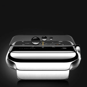 A Pair Of Full Coverage 3D Tempered Glass For Apple Watch - Screen Protection For Series  1, 2 & 3 - Elegance & Splendour
