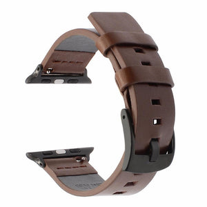 Italian Oily Leather Watchband For Apple Watch - Elegance & Splendour