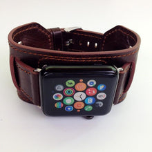Load image into Gallery viewer, Leather Tour Cuff Bracelet Watchband For Apple Watch - Elegance & Splendour