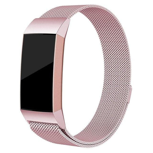 Milanese Loop Strap For Fitbit Charge 3 - Replacement Stainless Steel Watch Band For Men Women - Elegance & Splendour