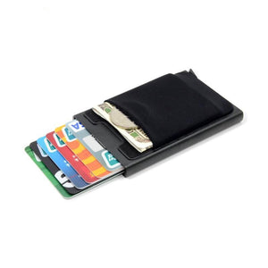 New Slim Aluminum Wallet/Card Case with Automatic Pop Up With RFID Blocking - Elegance & Splendour