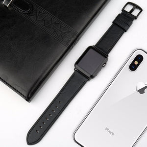 Quality Leather Watch Strap Replacement For Apple Watch - Elegance & Splendour