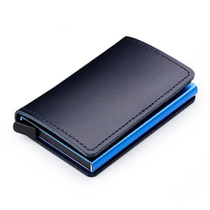 Premium Leather Credit Card Holder with RFID Blocking