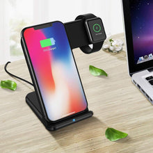 Load image into Gallery viewer, Wireless Charger For Apple Watch 4 3 2 & iPhone 8 Plus X Xs Max XR Samsung S9 S8 QC 3.0 USB Fast Wireless Charging Holder - Elegance & Splendour