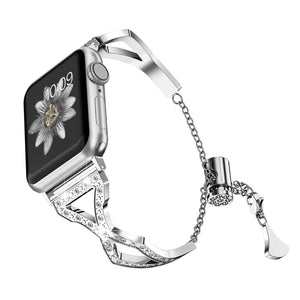 Diamond Bracelet Watch Bands for Apple Watch 38mm 40mm 42mm 44mm & Series 5 4 3 2 - Elegance & Splendour