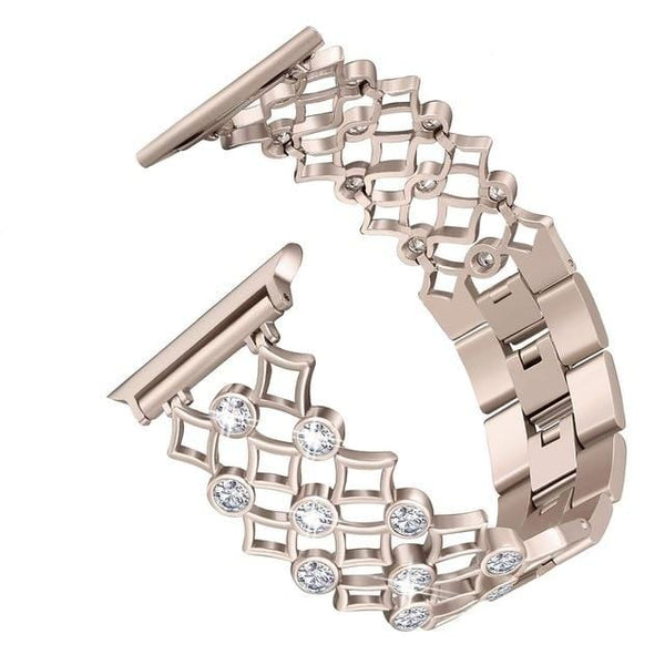 Designer Apple Watch Band -Rhinestones Studded Perfect Polished Super Premium Band - Elegance & Splendour