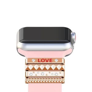 Decorative Ring Ornament For Apple Watch Band 42mm 44mm 40mm 38mm -