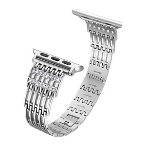 Bling Stainless Steel Watch Strap for Apple Watch All Sizes For Series 5/4/3/2 - Elegance & Splendour