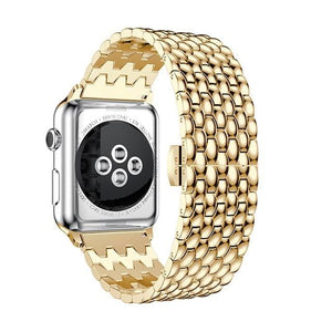 Business Formal Style Metal Watch Strap For Apple Watch - For Office Use - Elegance & Splendour