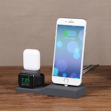 Load image into Gallery viewer, 3 in 1 Silicone Charging Dock For iPhone + Apple Watch + Airpods - Elegance & Splendour