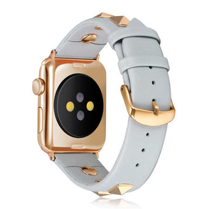 Rivet Style Luxury Band Compatible With Apple Watch - Elegance & Splendour