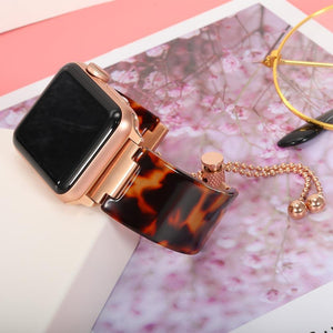 Premium Resin Jewelry Clasp For Apple Watch - Elegance & Splendour