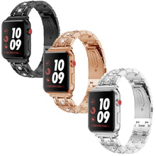 Load image into Gallery viewer, Rhinestone Diamond Stainless Steel Strap For Apple Watch - Elegance & Splendour