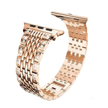 Load image into Gallery viewer, Diamond Stainless Steel Link Bracelet Strap Compatible With Apple Watch - Elegance & Splendour
