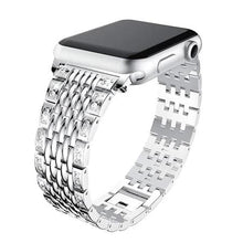 Load image into Gallery viewer, Diamond Stainless Steel Link Bracelet Strap For Apple Watch