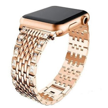 Load image into Gallery viewer, Diamond Stainless Steel Link Bracelet Strap For Apple Watch - Elegance & Splendour