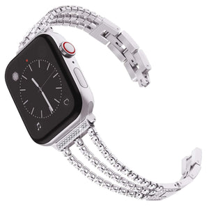 High-End Women Diamond Band Compatible With Apple Watch - Elegance & Splendour