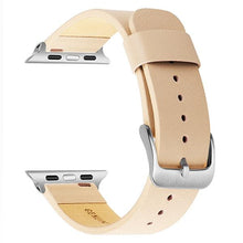 Load image into Gallery viewer, Genuine Leather Steel Clasp Strap Bracelet For Apple Watch - Elegance & Splendour