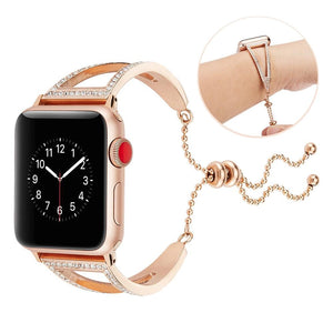 Empress Rhinestone Stainless Steel Bracelet Strap for Apple Watch Band 38/42/40/44mm & Series 5/4/3/2/1 - Elegance & Splendour