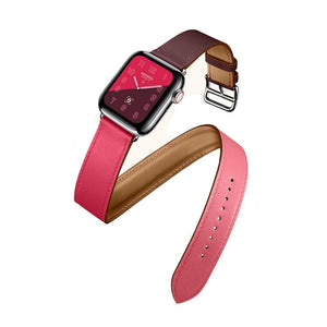 Double Tour Leather Bracelet watchband For Apple Watch - Elegance & Splendour