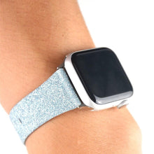 Load image into Gallery viewer, Shiny Glitter Leather Bling Luxury Bracelet Strap For Apple Watch - Elegance & Splendour