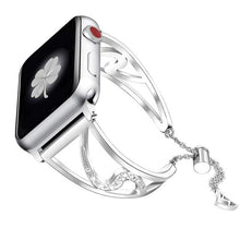 Load image into Gallery viewer, Lauren - Bling Diamond Stainless Steel Strap Compatible With Apple Watch - Elegance & Splendour