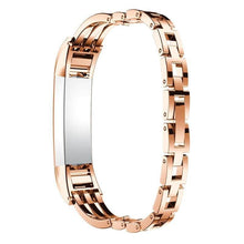 Load image into Gallery viewer, Fitbit Stainless Steel Jewelry Bangle Adjustable Bracelet Watch Band - Elegance & Splendour