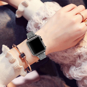 Handmade Premium CZ Crystal Stones Case Compatible With Apple Watch - Elegance & Splendour
