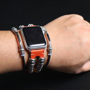 New Handmade Bead Retro Punk Bracelet for Apple Watch
