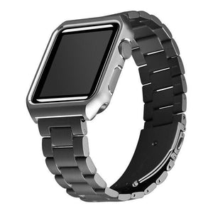 Protective Case With Stainless Steel Strap for Apple Watch - Elegance & Splendour
