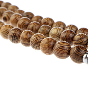 Handmade Natural Bamboo Wooden Beads Strap for iWatch - Elegance & Splendour