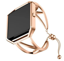 Load image into Gallery viewer, Luxury Rose Gold Stainless Steel Jewelry Pendant Bracelet For Fitbit Blaze / Versa - Elegance & Splendour