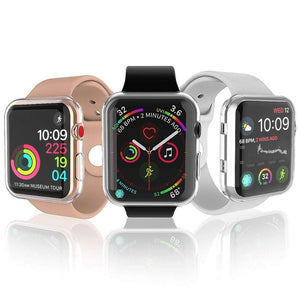 All-Around Ultra-Thin Clear Frame Soft Cover For Apple Watch - Elegance & Splendour