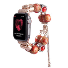 Load image into Gallery viewer, Wooden Beads Jewelry Bracelet Strap For Apple Watch - Elegance & Splendour
