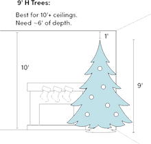 Load image into Gallery viewer, Traditional Fir Green Artificial Christmas Tree with Clear/White Lights - Elegance & Splendour