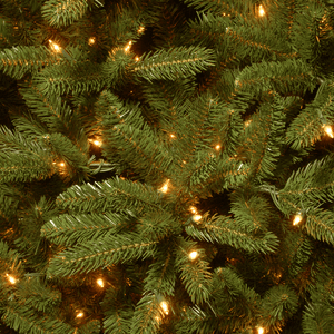Traditional Fir Green Artificial Christmas Tree with Clear/White Lights - Elegance & Splendour