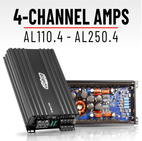 4-Channel Amplifiers