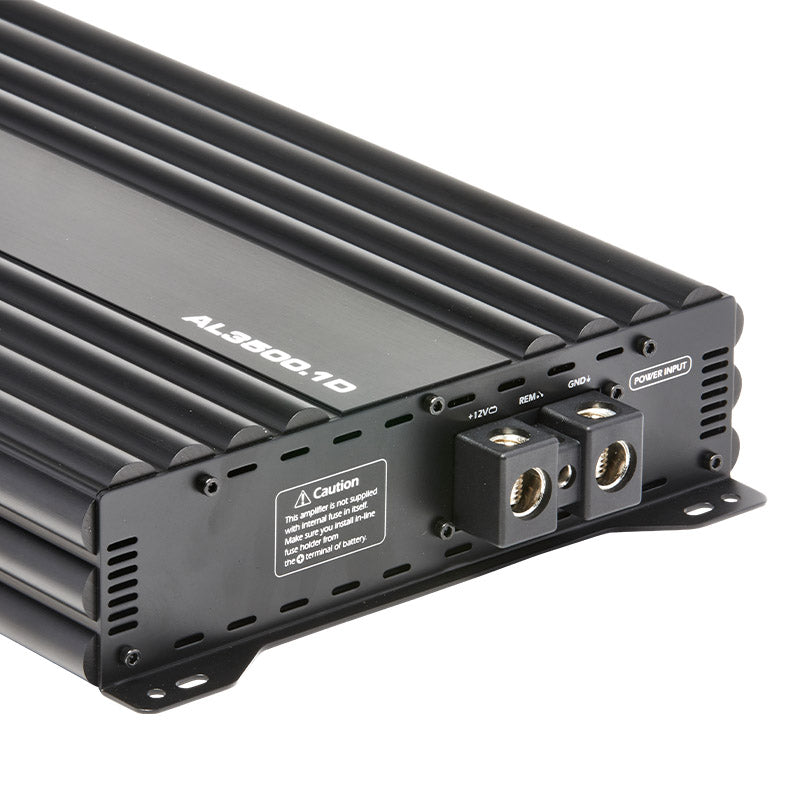 AL3500.1D - top side of 3,500 watts, monoblock class D car amplifier