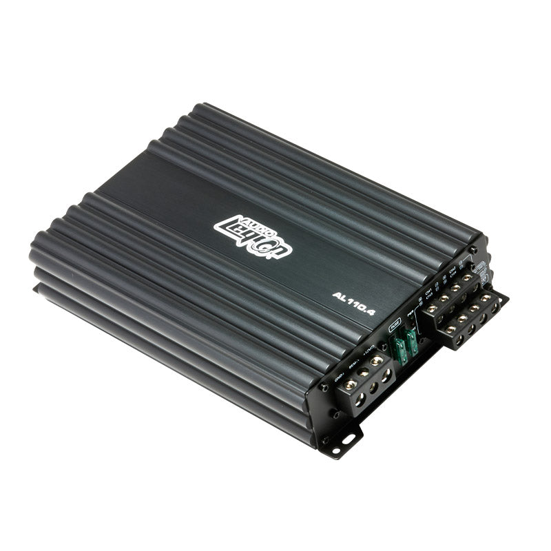 AL110.4 - top side of 110 watts, 4-channel car amplifier