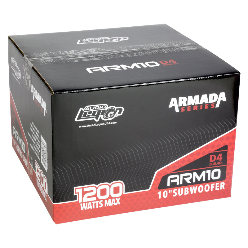 "Armada Series 10 | 10"" 1,200 Watt Max Car Subwoofer"