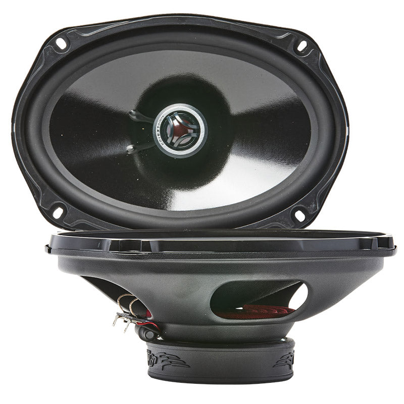 CME69 - double photo showing top and profile of 160 watt coaxial speaker